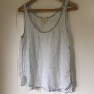 cloth & stone Tops - Cloth & Stone Bleached Chambray Tank
